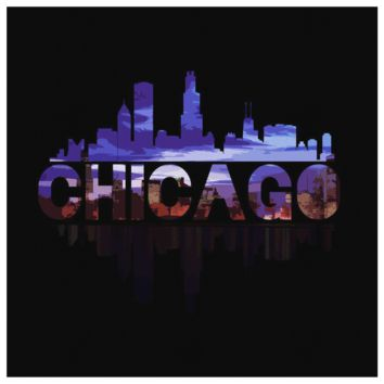 Chicago City Canvas - Skyline Landmark U.S.A Souvenir Travel Canvas
