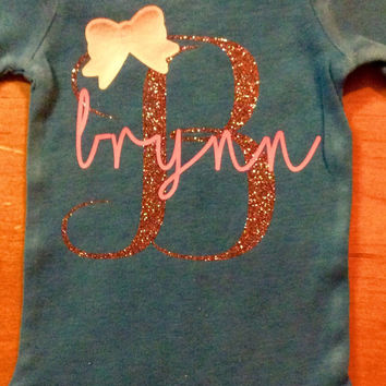 Baby girl Onesuit with initial and name
