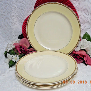 Homer Laughlin China Dinnerware Viceroy, Eggshell Georgian #G3571 set 5 Plate