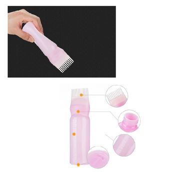 HOT 120ML Plastic Hair Dye Filling Bottle Applicator with Graduated Brush Dispensing Kit Salon Hair Coloring Dyeing Styling Tool