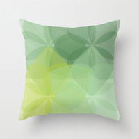 Geometric Flower Pillow Cover - Emerald Green -  Abstract Flower Throw Pillow - Modern Home Decor - By Aldari Home