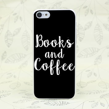 123F Books And Coffee Inverted Mck Print Hard Transparent Case Cover for iPhone 7 7 Plus 4 4s 5 5s 5c SE 6 6s Plus