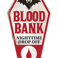 Blood Bank Plastic Sign - Spirithalloween.com