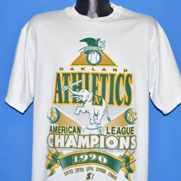 90s Oakland Athletics AL Champs 1990 t-shirt Extra Large