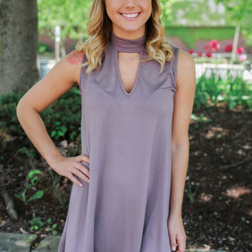 On the Road Dress - Dark Taupe