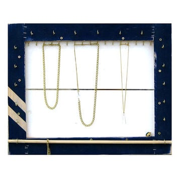 Jewelry Organizer // Necklace Display & Storage Display // Nautical Home Decor // Jewelry Storage Furniture Organizer // Eco-Friendly  Gift