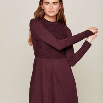 Burgandy Sheered Tea Dress | Missselfridge