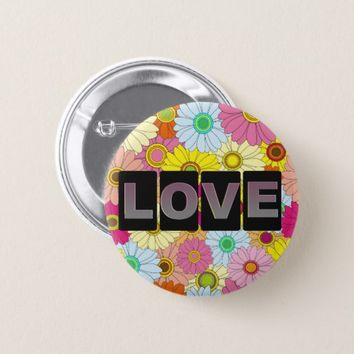 Love Round Button