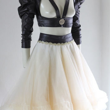 Steampunk Bolero Harness Cosplay Gothic Bridal Wedding Leather ette - Andru Chrisst - SPECIAL ETSY PRICE