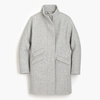 Cocoon coat in Italian stadium-cloth wool