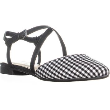 Indigo Rd. Genetic Pointed Toe Sandals, Black Multi, 6 US