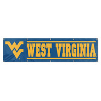 West Virginia Mountaineers NCAA Applique & Embroidered Party Banner (96x24)