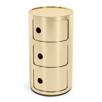 Kartell 3-Drawer Componibili Gold