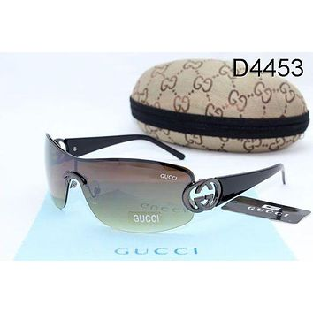 GUCCI Trending Women Men Simple Sun Shades Eyeglasses Glasses Sunglasses Black I