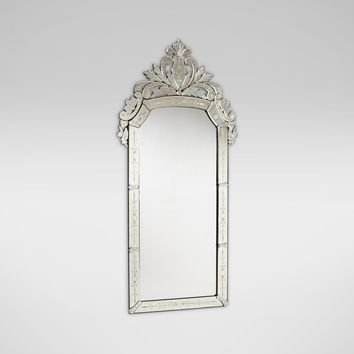 Venetian Crown Floor Mirror