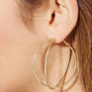 Etched Double Layered Hoop Earrings