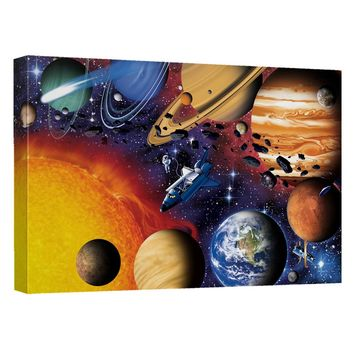 Solar System Canvas Wall Art With Back Board