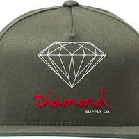 Diamond OG Logo Hat Adjustible Olive