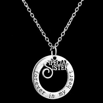 Special Sister Pendant Necklace