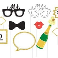 Wedding Photo Booth Props 10ct   Party City