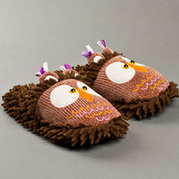 Fuzzy Owl Slippers | Fuzzy Friends Animal Slippers | BunnySlippers.com
