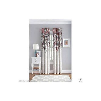 "Your Zone Paisley Polyester Curtain Panel 42"" X 84"""