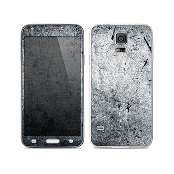 The Grungy Gray Textured Surface Skin For the Samsung Galaxy S5