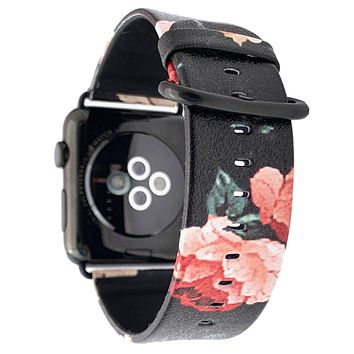 40mm & 38mm Vegan Leather Apple Watch Band - Dark Rose