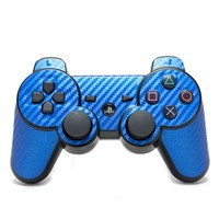 Playstation 3 Remote Cover/Skin - Carbon Fiber Blue from Slickwraps