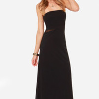 Hurley Tomboy Strapless Black Maxi Dress