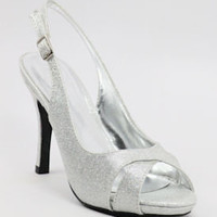 Silver wedding shoes, silver sandals, silver bridesmaid shoes, silvershoe-200-48