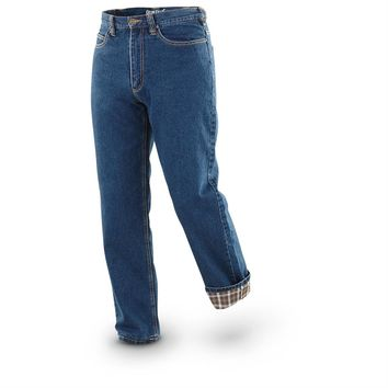 Guide Gear Flannel-lined Jeans, Stonewash - 221527, Insulated Pants, Overalls & Coveralls at Sportsman's Guide