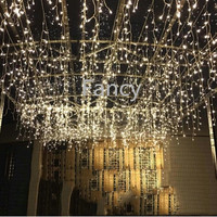 Quanlity 220V EU Plug 5M LED string Christmas lights Icicle Lights curtain light Xmas led fairy lights Wedding Party Decoration