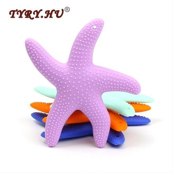 TYRY.HU Dancing Starfish Silicone Baby Teether BPA Free Silicone Teether Beads Chewing Baby Teething Pendant Tooth Training Toys