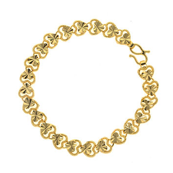 Dear Deer Gold Plated Elegant Loving Heart Link Bracelet