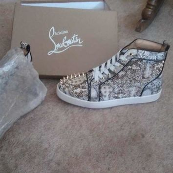 Red Bottoms Christian Louboutin shoes Python