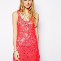 ASOS Crochet Cami Dress - Pink