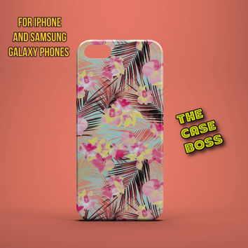 HAWAII FLOWERS PALMS Design Custom Phone Case for iPhone 6 6 Plus iPhone 5 5s 5c iphone 4 4s Samsung Galaxy S3 S4 S5 Note3 Note4 Fast!