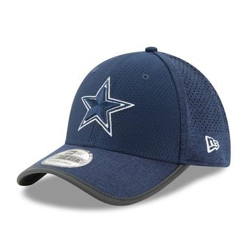 Men's Dallas Cowboys New Era Navy 2017 Training Camp Official 39THIRTY Flex Hat