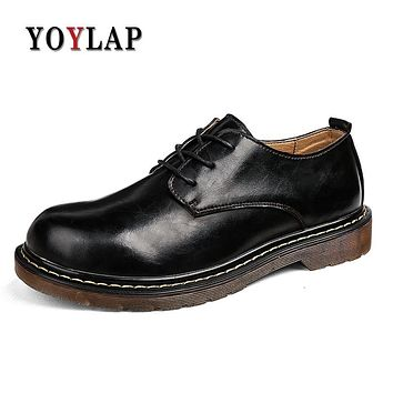 Brand 2018 New Men Doc Dr Martins Shoes genuine Leather Autmn Winter Boot British Style classic Casual Shoes Dr. Martens Boots
