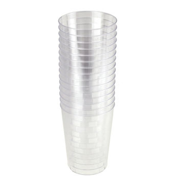 Clear Plastic Cups Tumbler 10 oz, 3-Inch, 15-Piece