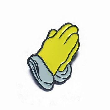 Homer Simpson Praying Hands Lapel Pin
