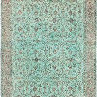 "5'9"" x 9'10"" Turkish Overdyed Rug"