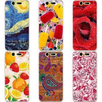 Luxury Printing Case For ZTE Blade S7 S 7 Art Printed Flower Cell Phone Cover Rose Funda Cute Animal Coque