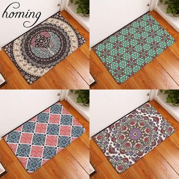 Homing New Arrive in Front of Door Mats Psychedelic Dizzy Indian Mandala Geometric Flower Rugs Living Room Bedside Foot Pads