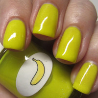 Neon Shimmer Jelly Banana Nail Polish