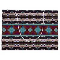 Bohemian ornament in ethno-style, Aztec Large Gift Bag