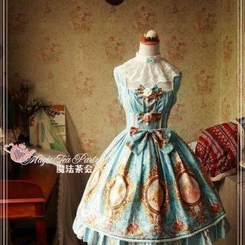 Royal Of Europa Series Printed Lolita Jsk Sleeveless Lolita Dress By Magic Tea Party