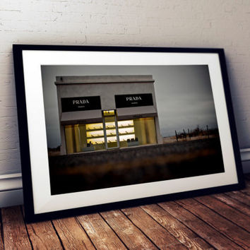 Photography of Prada Marfa In Texas Landscape Desert West Remote Empty Tourist Installment Architecture Color Photograph