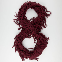 Fringe Infinity Scarf Burgundy One Size For Women 24513132001